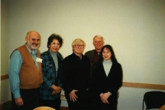 Dr. Bill Perk (2nd from right), organizer of the 1995 syntegration on Old Man River City stands with other participants, including Rep. Younge and CESJ's Dawn Brohawn