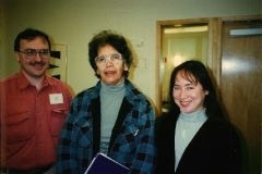 Illinois State Rep. Wyvetter Young (m) with Rowland Brohawn (l) and Dawn Brohawn (r) at 1995 Syntegration